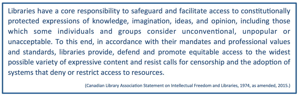 CLA Statement on Intellectual Freedom