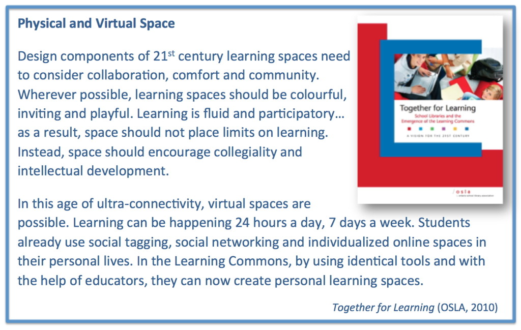 T4L Physical & Virtual Spaces