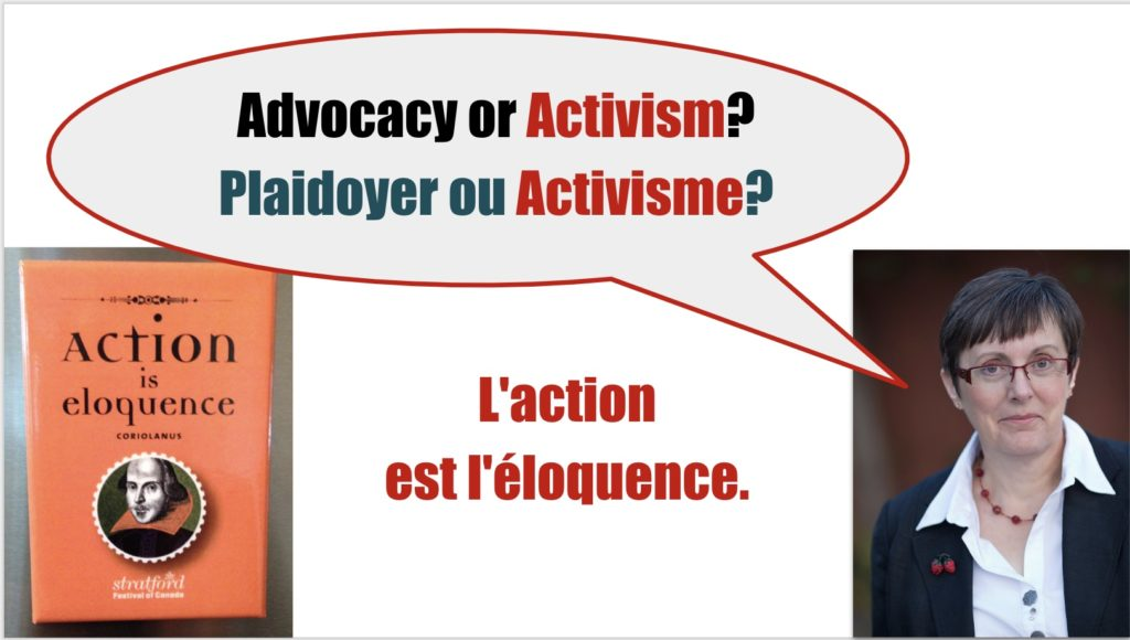 Advocacy or Activism?